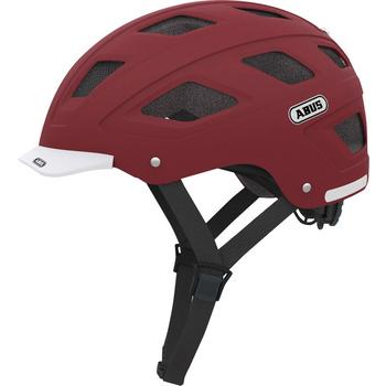 Abus Hyban L marsala red fiets helm