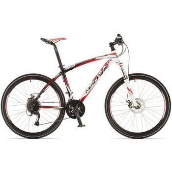 Rock Machine Typhoon 60 wit-rood-zwart 50cm Mountainbike