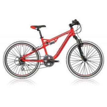 Shockblaze Warrior 24 FS rood Mountainbike
