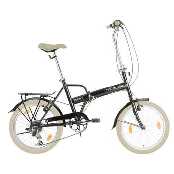 Hollandia Travel U44 6-speed zwart vouwfiets