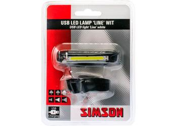 Simson koplamp Line led usb 8 lux