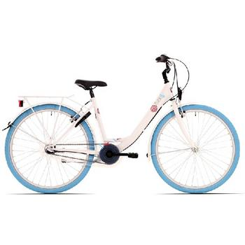 Bike Fun Pure N3 26inch wit-blauw meisjesfiets
