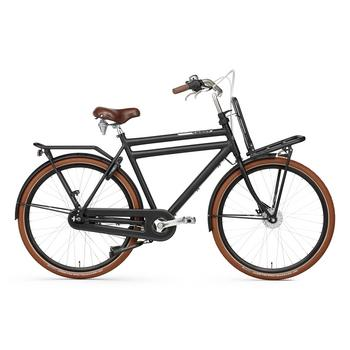Popal Daily Dutch Prestige N7 RB 50cm matzwart Heren Transportfiets