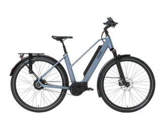 Qwic E-bike Performance MN380 Dames Middenmotor Steel Blue