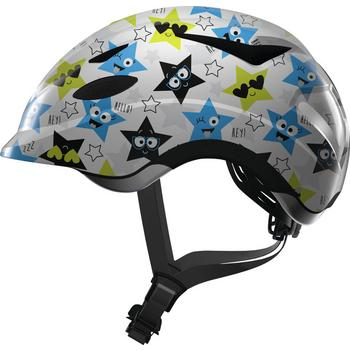 Abus Anuky M white star kinder helm