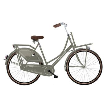 Hollandia Royal Dutch grijs-bruin 56cm Dames transportfiets
