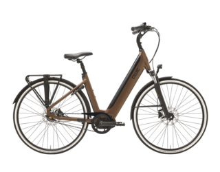 Qwic E-bike Premium i MN7+ Belt Dames Middenmotor Walnut