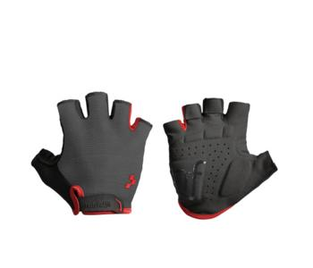 Natural Fit Gloves Short Finger grey/red