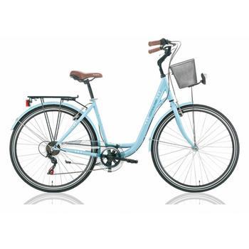 Excel Central Park 18-speed blauw damesfiets
