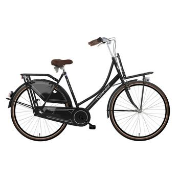 Hollandia Royal Dutch N3 zwart-bruin 49cm Dames transportfiets