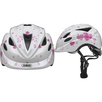 Abus Anuky M white hearts kinder helm