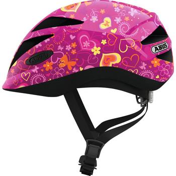 Abus Hubble 1.1 M purple flower kinder helm