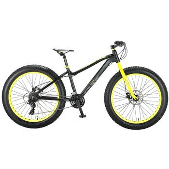 Altec Fat Bike 21-speed 26inch zwart-geel Fatbike