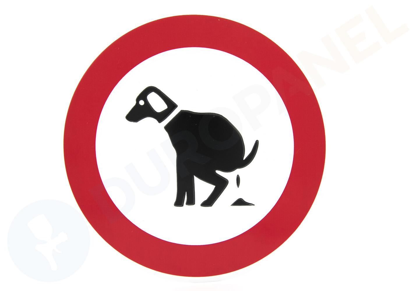 Hondenpoep In Tuin : Verbodsbord hondenpoep verboden duropanel