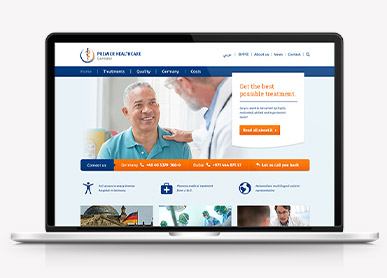 Website Premier Healthcare Germany