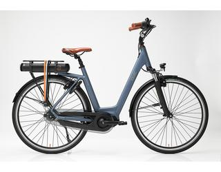 Qwic E-bike Premium MN8 Dames Middenmotor Steel Blue