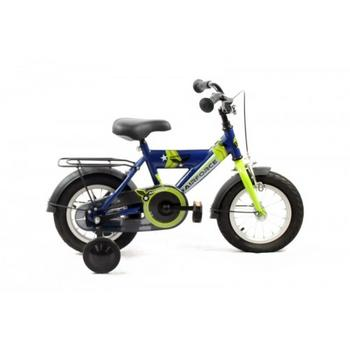 Bike Fun Airforce 12inch blauw-groen jongensfiets