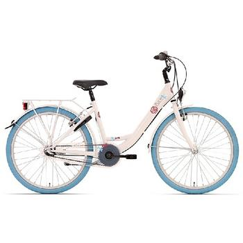 Bike Fun Pure N3 24inch wit-blauw meisjesfiets
