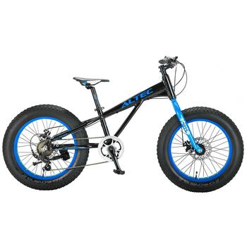 Altec Fat Bike 7-speed 20inch zwart-blauw Fatbike