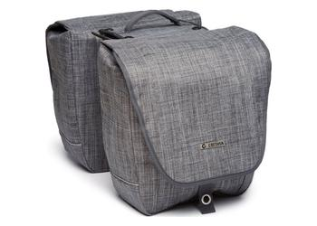 Cortina Riga dubb fietstas afn XL denim grey+AVS
