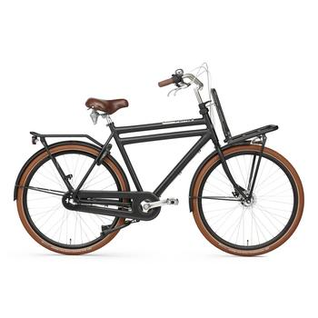 Popal Daily Dutch Prestige N3 RB 50cm matzwart Heren Transportfiets