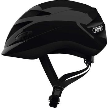 Abus Hubble 1.1 M shiny black kinder helm