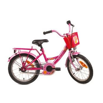 Bike Fun Lollipop 18inch fuchsia-roze meisjesfiets