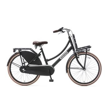 Popal Daily Dutch Basic Plus 24inch matzwart Transportfiets