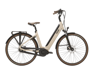 Qwic E-bike Premium i MN7+ Dames Middenmotor Maple Sand