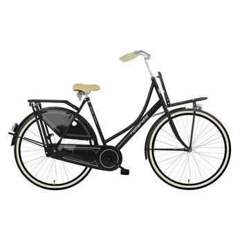 Hollandia Royal Dutch zwart-creme 49cm Dames transportfiets
