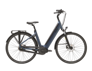 Qwic E-bike Premium i MN7+ Dames Middenmotor Midnight Blue