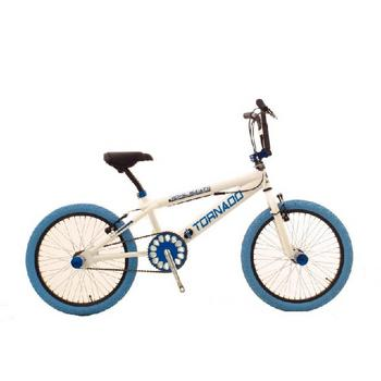 Tornado Royal Bugatti 20inch wit-blauw Freestyle BMX